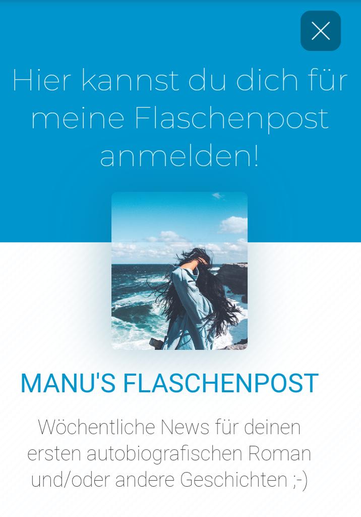 Manus Flaschenpost